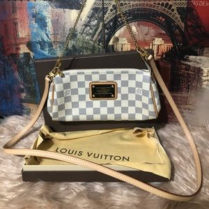 Authentic Louis Vuitton Eva clutch crossbody